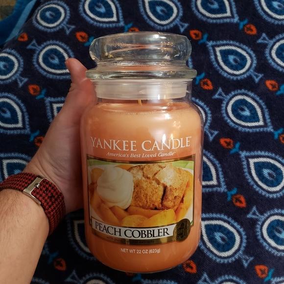 NWT Yankee Candle Peach Cobbler Large Jar